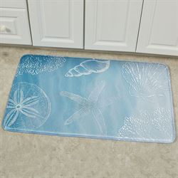 Coastal Waves Cushioned Rectangle Mat Light Blue 35 x 22
