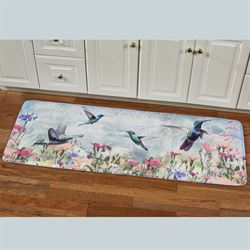 Hummingbird Haven Cushioned Runner Mat Multi Cool 55 x 20