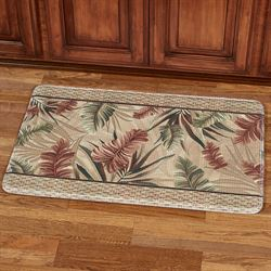 Key West Cushioned Rectangle Mat Multi Warm 35 x 22