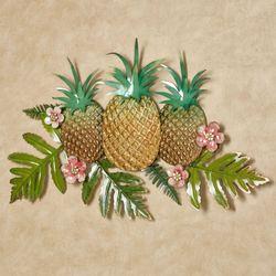 Pineapple Splendor Wall Art Gold