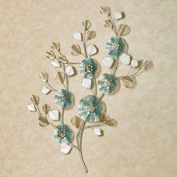 Regence Floral Wall Art Blue
