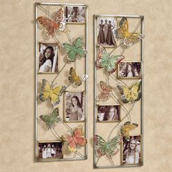 Butterfly Photo Wall Art Multi Pastel Set of Two