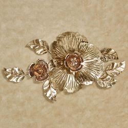 Floral Glitz Wall Art Multi Metallic
