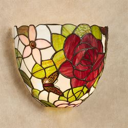 Elegant Roses Wireless LED Wall Sconce Red