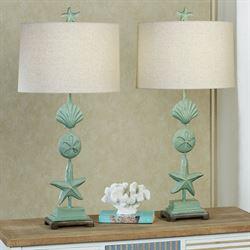 Cape Coral II Coastal Table Lamp Blue
