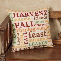 Autumn Sentiment Decorative Pillow Multi Warm