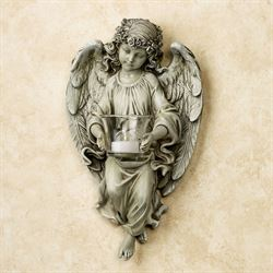 Angel Tealight Holder Wall Accent Pale Green