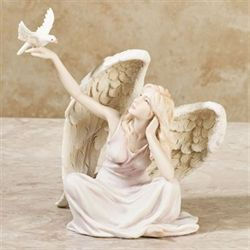 Sitting Angel Figurine Multi Pastel