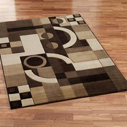 Tones Area Rug Rich Brown