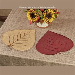 Fall Splendor Leaf Placemats Set of Four