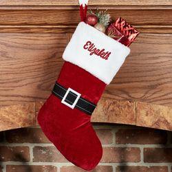 santa suit christmas stocking red