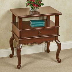 Genevieve Chairside Table Regal Walnut