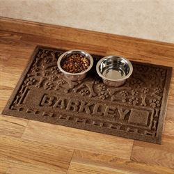 Paws and Bones Personalized Pet Mat
