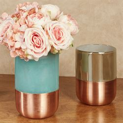 Copper Band Vase Multi Cool Extra Small