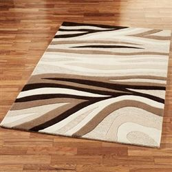 Sandstorm Rectangle Rug Natural Brown