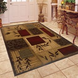 Vining Block Rectangle Rug Beige