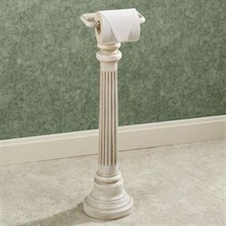 Column Toilet Paper Stand Old World White