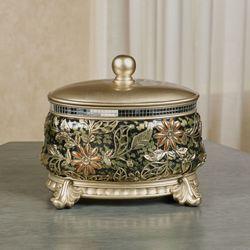 Evangeline Decorative Covered Box Multi Metallic