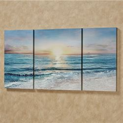 On the Shore Canvas Triptych Wall Art Multi Cool Set of Three