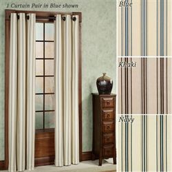 Weathermate Stripe Grommet Curtain Pair