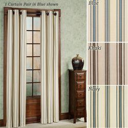 Weathermate Stripe Grommet Curtain Pair