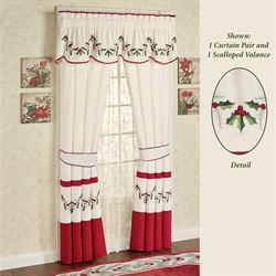 sheer valances window treatments swag curtains holly wreath scalloped valance window treatment christmas holiday treatments curtains valances touch of class