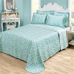 Amanda Matelasse Bedspread Aqua