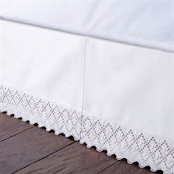 Irene Kick Pleat Bedskirt Ivory