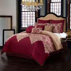 Dolce Milan Comforter Bed Set Burgundy