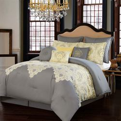 Dolce Milan Comforter Bed Set Dark Gray