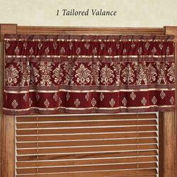 Dynasty Tailored Valance Merlot 72 x 17