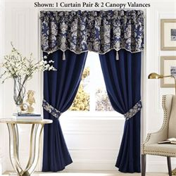 Croscill Imperial Tailored Curtain Pair Indigo 82 x 84
