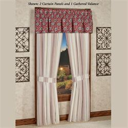 Bandera Tailored Curtain Panel Dark Red 48 x 84