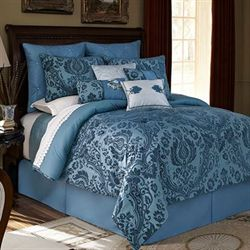 Aristocrat Comforter Set Blue Shadow