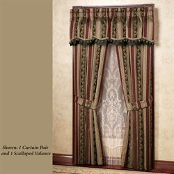 Triomphe Scalloped Valance Latte 78 x 20