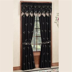 Annabella Rose Tailored Curtain Pair Black