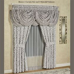 Babylon Tailored Curtain Pair Silver 98 x 84