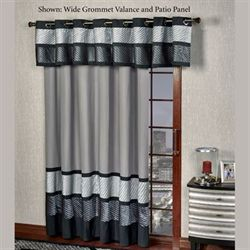 Omega Grommet Patio Panel Dark Gray 112 x 84