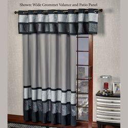 Omega Grommet Patio Panel Dark Gray 112 x 84 & Patio Door Curtain Panels | Touch of Class