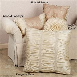 Chantilly Rose Ruffled Pillow