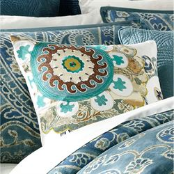 Belcourt Quilted European Sham Blue Shadow