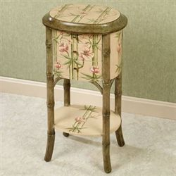 Bountiful Bamboo Side Table Beige