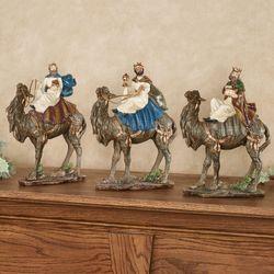 Three Wise Men Table Sculptures Multi Jewel Set of Three