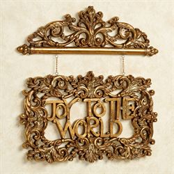 Joy to the World Wall Accent Aged Gold