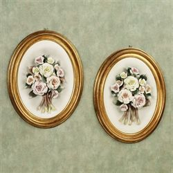 Carissa Floral Wall Plaque Set