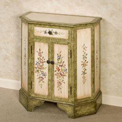 Elegant Blossom Storage Cabinet Antique Ivory