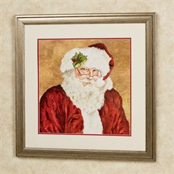 Saint Nick Framed Wall Art Red
