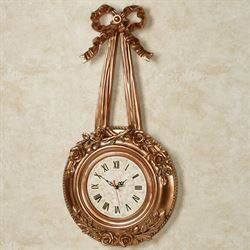 Roses Wall Clock Gold