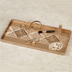 Majesty Vanity Tray Champagne Gold