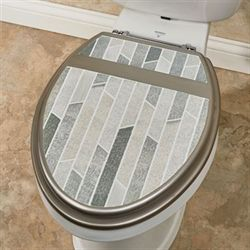 Titania Elongated Toilet Seat Platinum